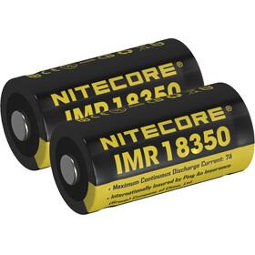 NITECORE IMR Li-Ion - Piles - 18350/750mAh/pack de 2 jaune/noir